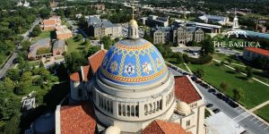 Basilica Great Dome exterior drone
