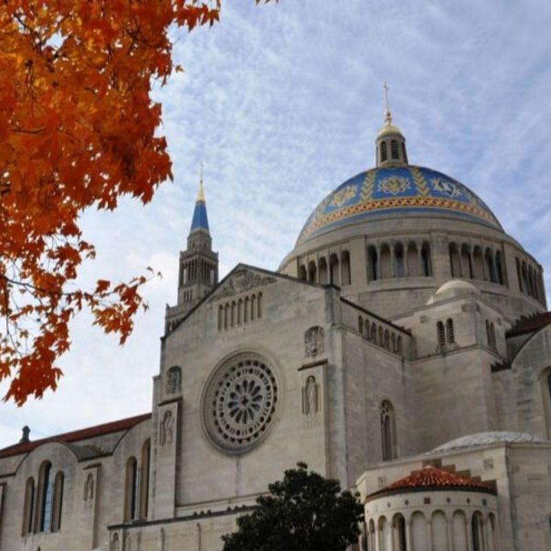 fall at the basilica