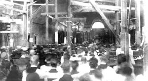 1924 Apr 20 -Easter Sunday-First Mass in Crypt