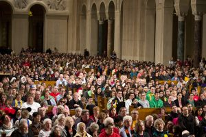 Great Upper Church is packed with attendees for the National Prayer Vigil for Life