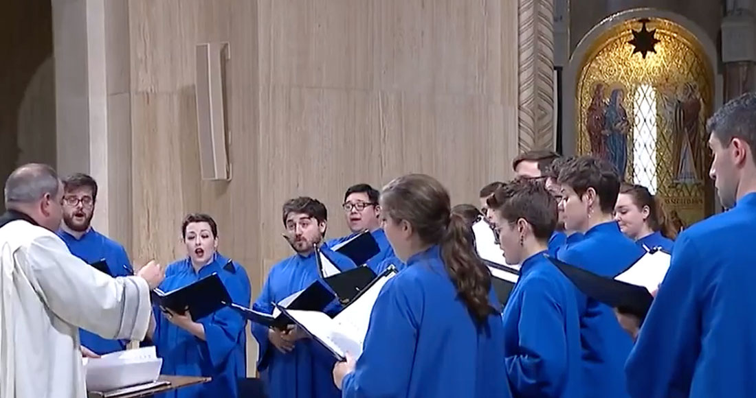 Peter Latona conducting Basilica choir