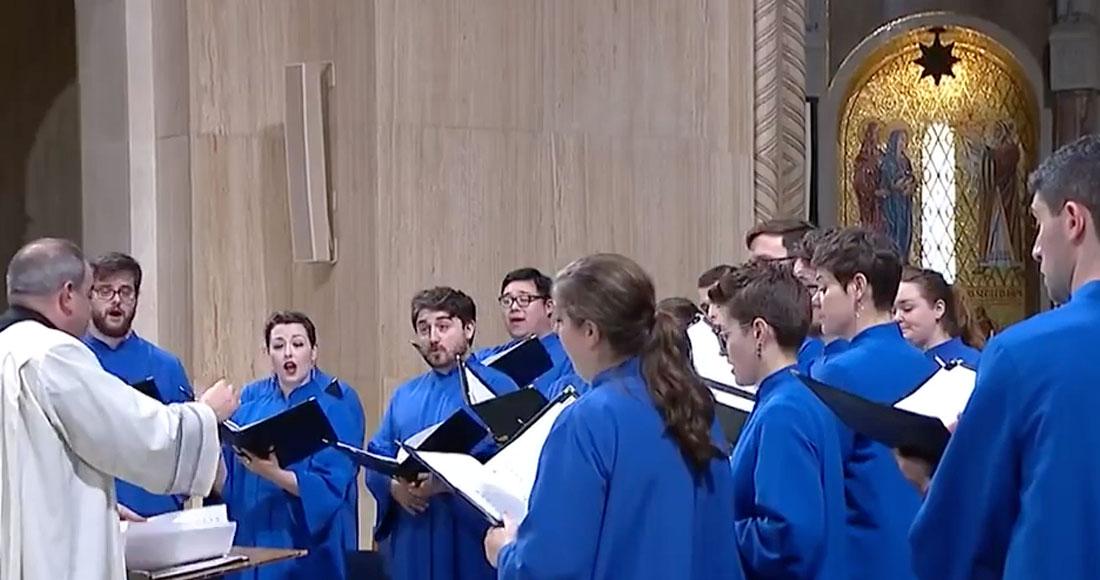 Peter Latona conducting Basilica choir