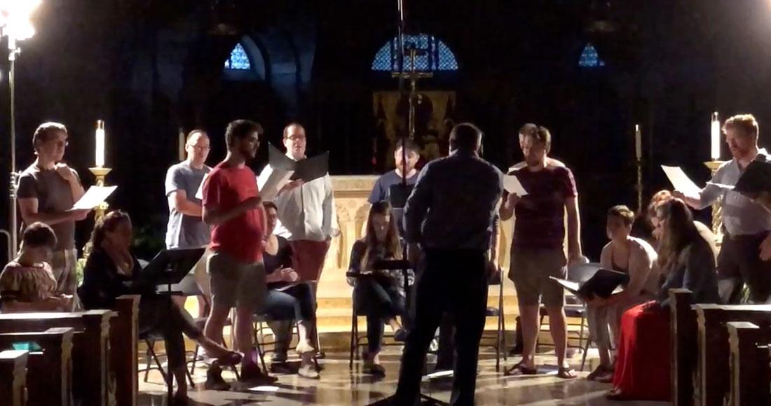 Basilica choir rehearsal