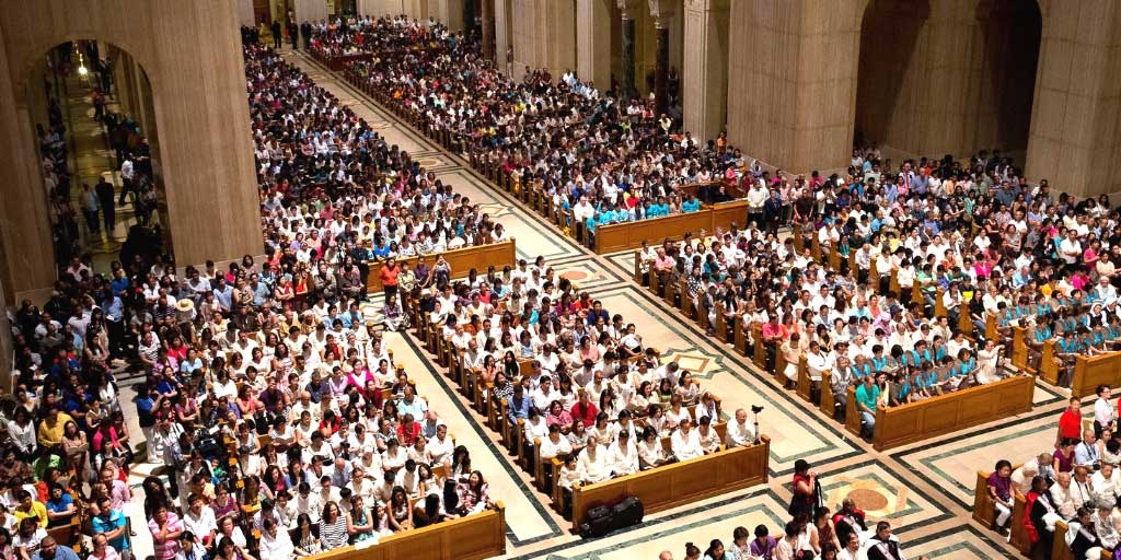 Filipino Catholic Community attending Pilgrimage event
