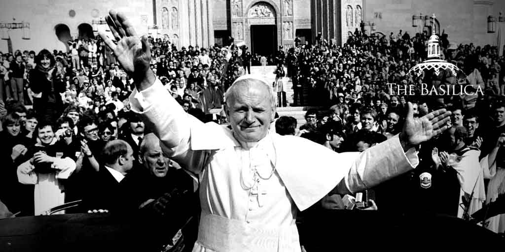 John Paul II visits the Basilica