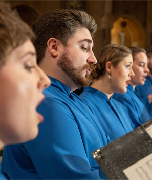 Basilica choir performing