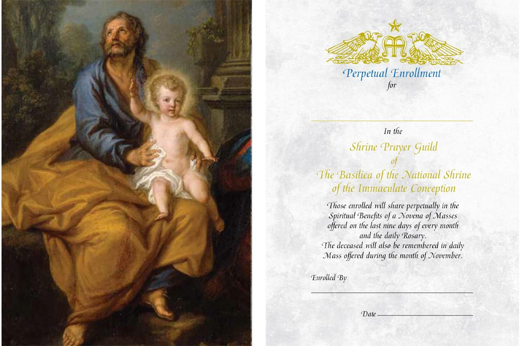 Perpetual enrollment for Fathers prayer card