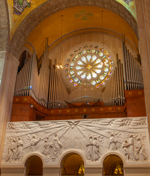 Great Upper Church Organ with Universal Call to Holiness bas-relief