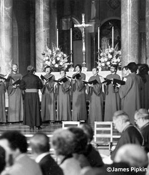 Basilica choir historical image