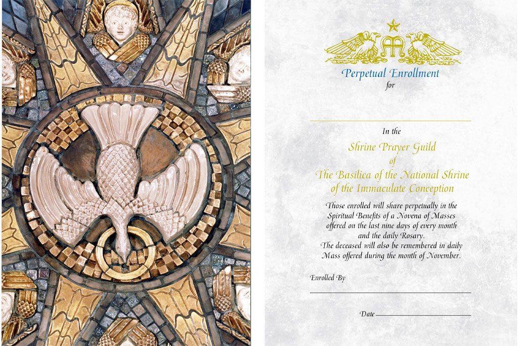 Perpetual Enrollment for the Sacraments Prayer Card