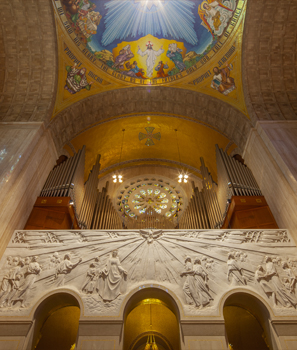Great Upper Church organ and incarnation dome
