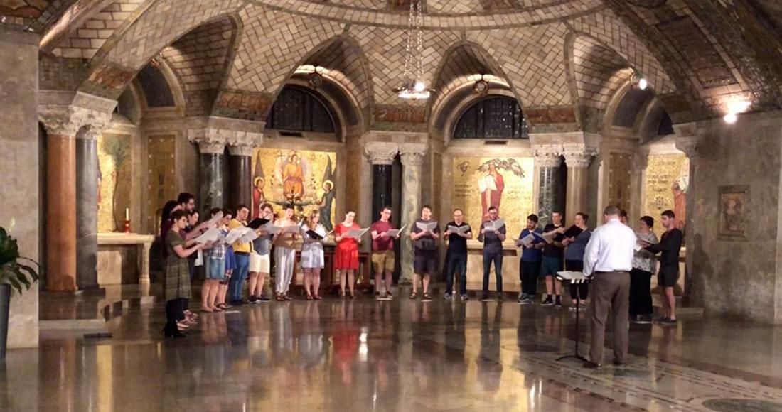 Basilica choir rehearsal crypt church