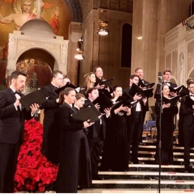 choir sings at christmas