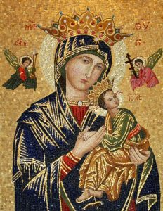 Detail of Our Mother of Perpetual Help mosaic