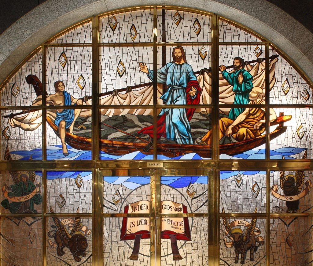 Jesus teaching by the seas Crypt Church Sacristy