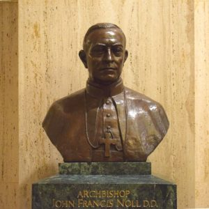 Archbishop Francis Noll bronze statue