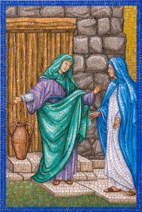 Rosary Garden Mary and Elizabeth