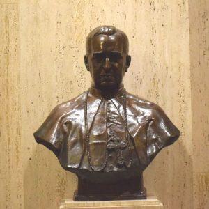 Bishop Thomas Shahan bronze statue