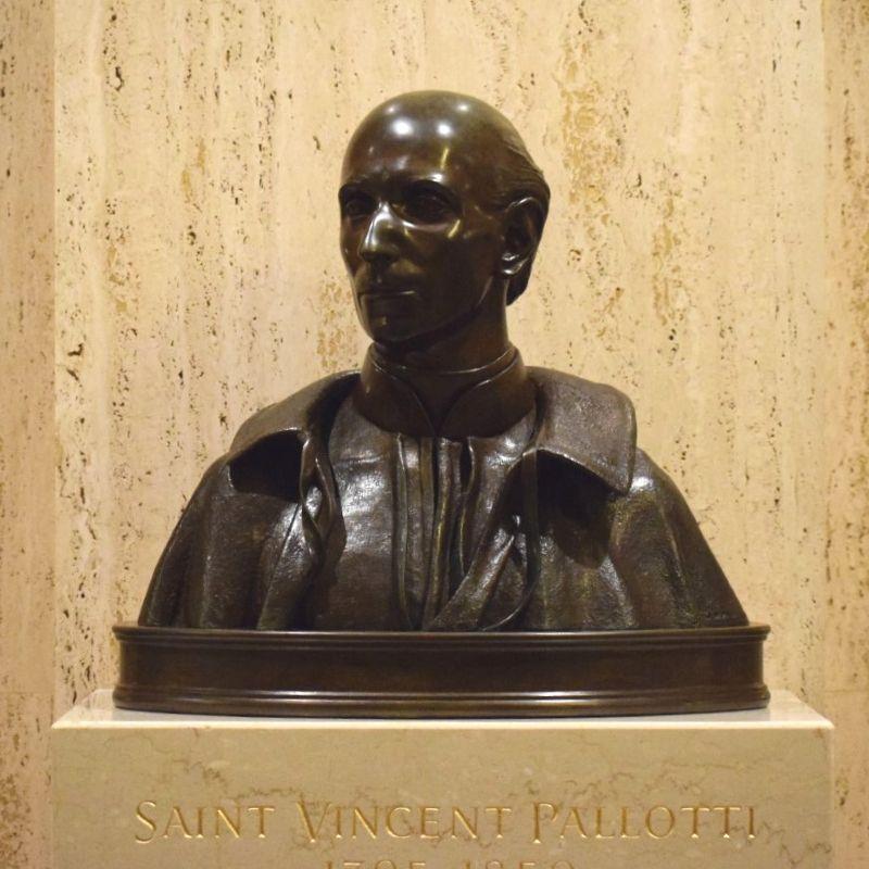 Saint Vincent Pallotti bronze statue