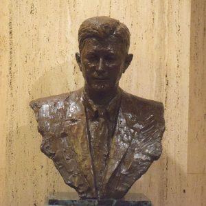 James J. Morris bronze statue