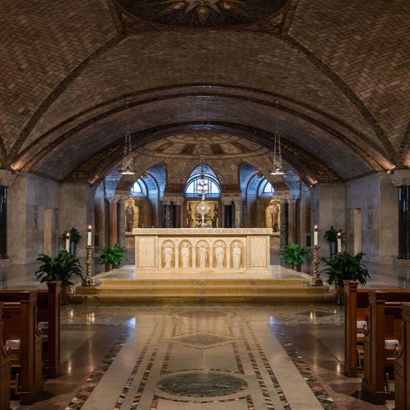 Crypt Church altar
