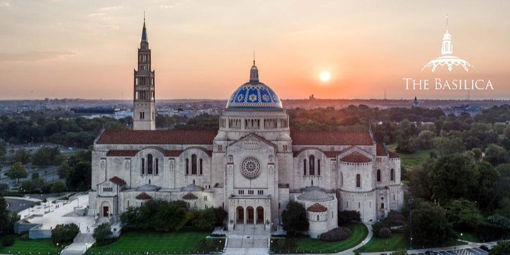 Basilica Exterior at sunset
