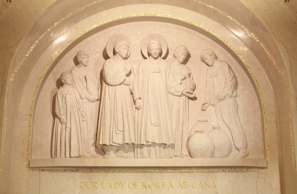 Korean Tympana - Our Lady of Korea at Cana