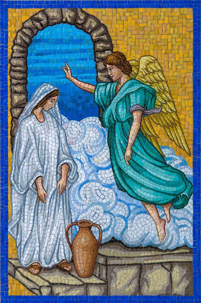 Annunciation Rosary garden mary angel gabriel