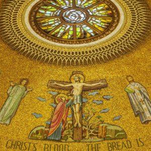 crucifixion blessed sacrament chapel mosaic