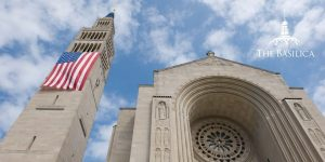 basilica with flag