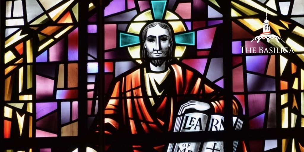 Christ the Teacher stained glass