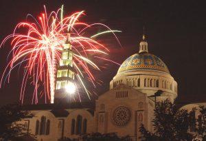 Basilica Fireworks Shot - 50th