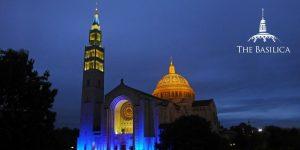 Basilica lights it blue