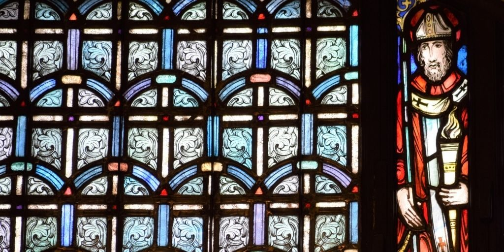 Irenaeus in stained glass Basilica