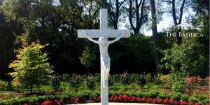 crucifix rosary garden