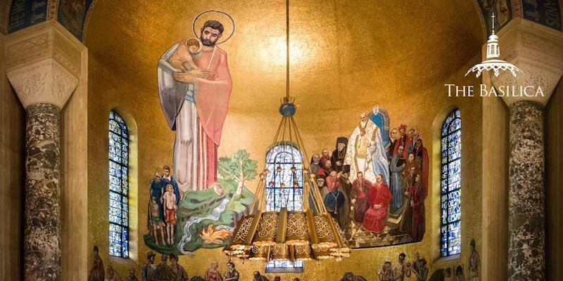 St. Joseph mural Great Upper Church