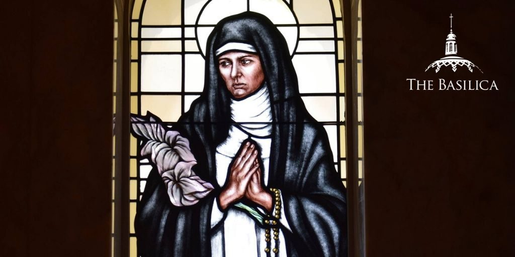 Catherine of Siena stained glass window