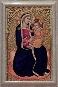 The Our Lady of Grace of Montenerro mosaic in the St. Louise de Marrilac Chapel