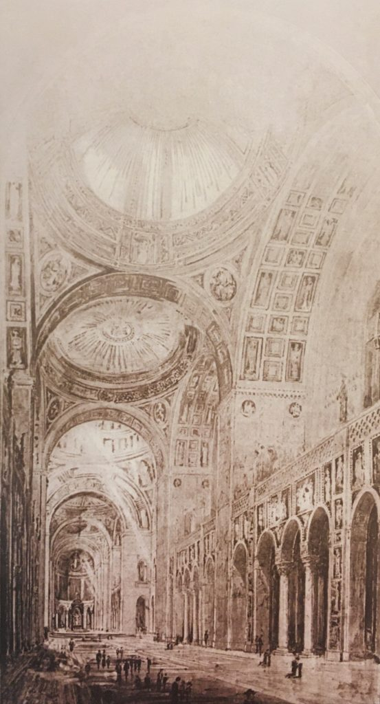 Basilica interior sketch