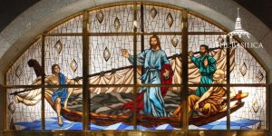 Jesus Teaching on the seas lower sacristy banner