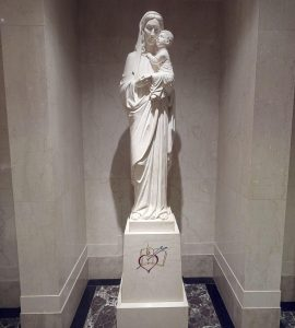 Marble statue of Our Mother of Good Counsel