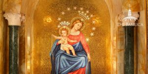 the Blessed Mother and child in our lady of pompei chapel