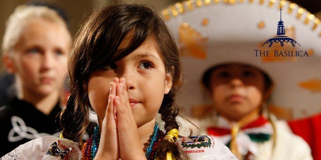 Pilgrimage child praying