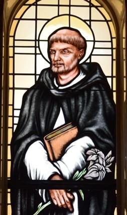 Saint Dominic in window