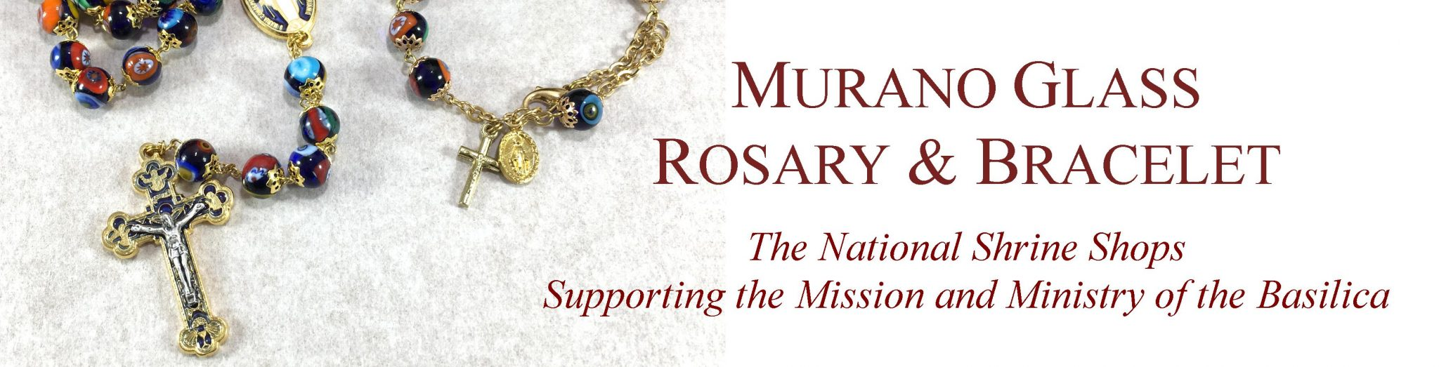 Murano glass rosary banner