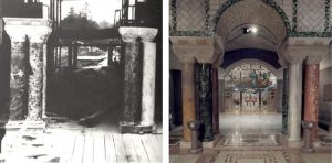 crypt church sacristy then and now