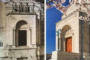 east narthex entrance then and now