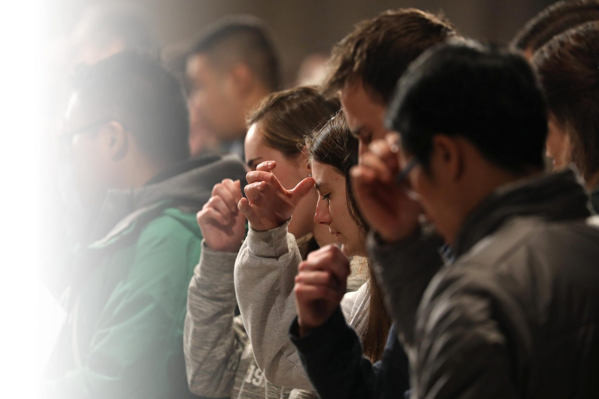 Faithful Youth Attend Vigil