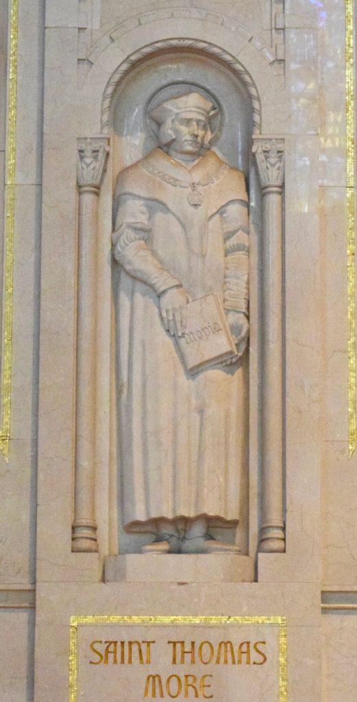 St. Thomas More portrayed northwest nave bay
