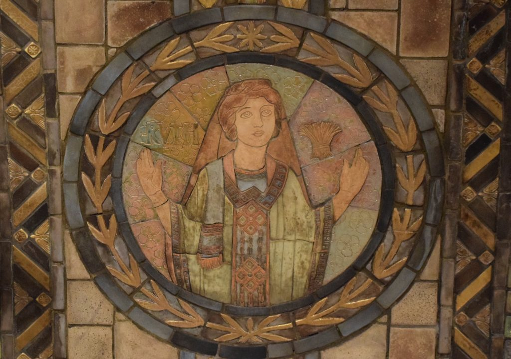 Ruth pewabic tile Crypt Church